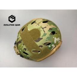 Carbon style 4 hole helmet
